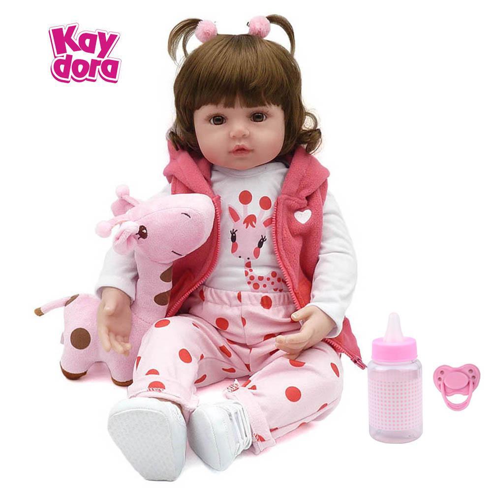 1655ecb176 Compre KAYDORA 47 Cm   55 Cm Silicona Reborn Baby Dolls Baby Alive Realista  Bonecas Realista Muñeca Real Girl Bebe Reborn Cumpleaños Navidad A  78.4  Del ...