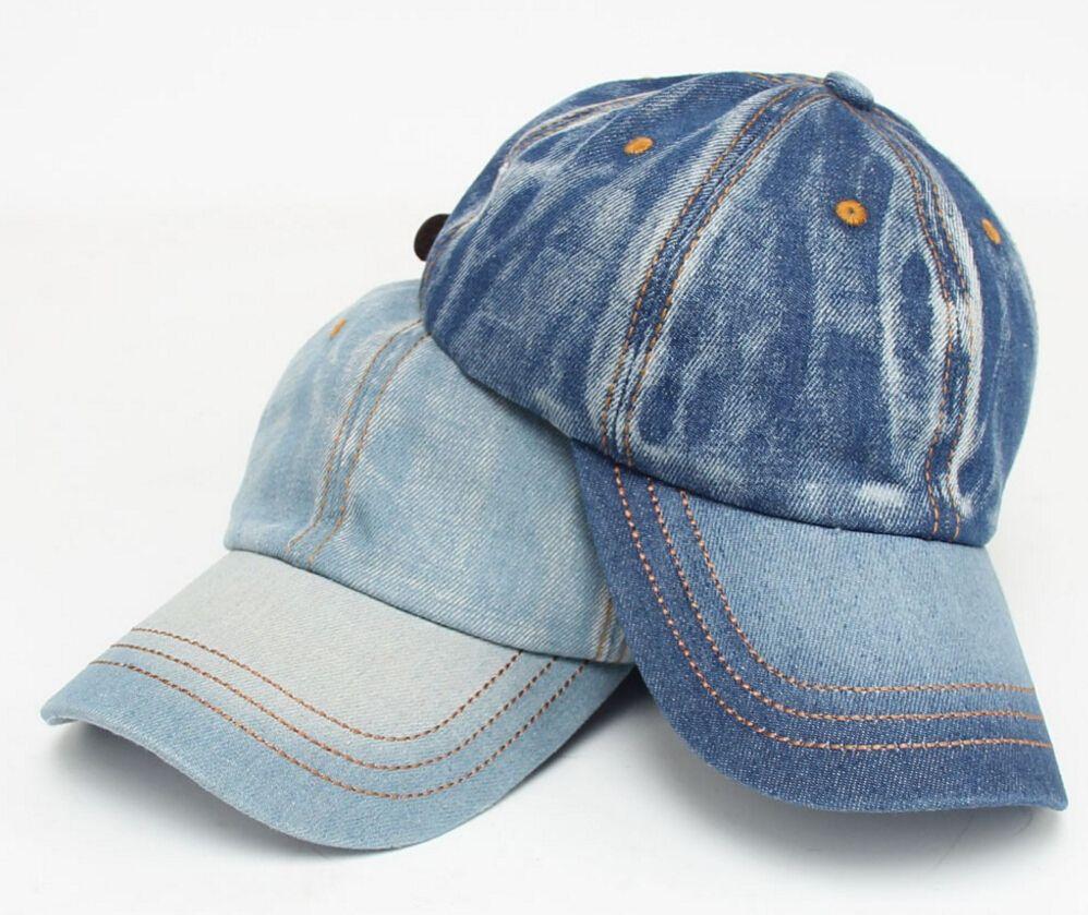 9eab12c38d0 2019 Men Women Snapback Hat Retro Jeans Baseball Cap Sports Caps Adjustable  Visor Bone Denim Blank Plain Hat From Marigolder