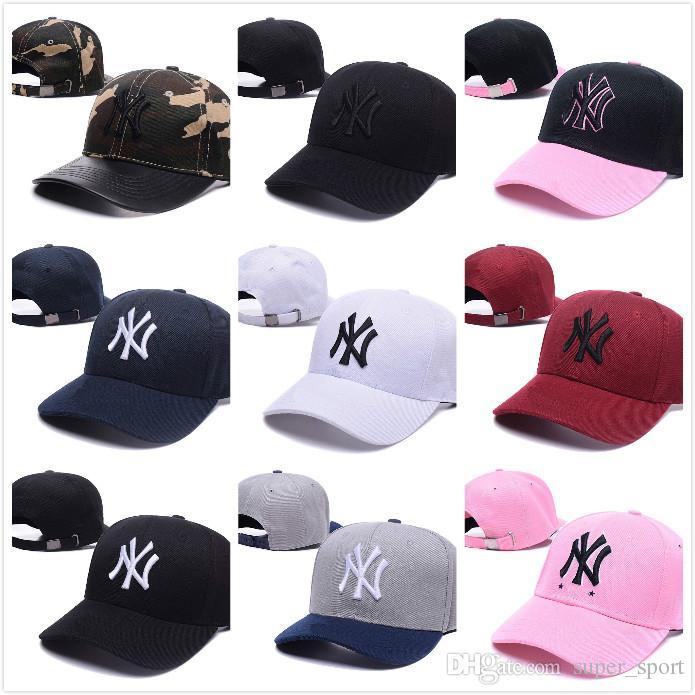 c3a253dd464 New Baseball Cap NY Embroidery Letter Sun Hats Adjustable Snapback ...