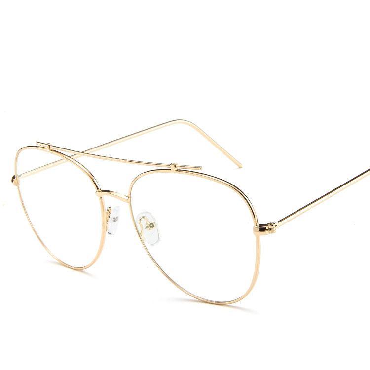 9510886b74e 2019 Clear Glasses Eyeglasses Metal Gold Myopia Eyewear Women Men Spectacle  Frames Optical Glasses Frame Transparent Lens From Xiacao