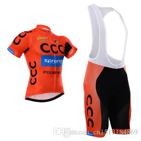 UCI 2018 Pro Team CCC Short Sleeve Cycling Jersey Bib Shorts Kit Ropa  Ciclismo Breathable Bicycle Clothing MTB Bike Jersey Set Womens Cycling  Jerseys Long ... 28523c8fe