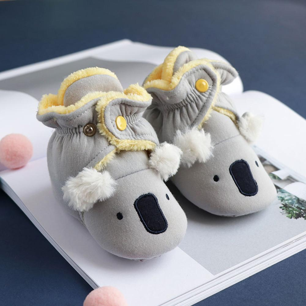 Newborn Christmas Baby Boy Girl Cartoon Animal Shoes Toddler Shoes Anti-Slip Home Baby Moccasins Footwear