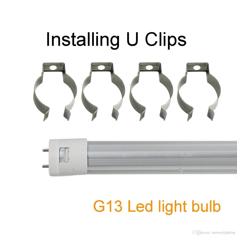 Lager In US + T8 führte Rohr Licht U Clips Tube Lampensockel Halter T8 Leuchtstofflampe Metall Socket Bracket Connector