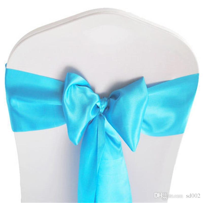 Chair Sashes Satin Elastic Butterfly Chairs Back Cover Band For Wedding Banquet Hotel Decorations Ribbon Bowknot Prop Many Colors 1 2kq FZ