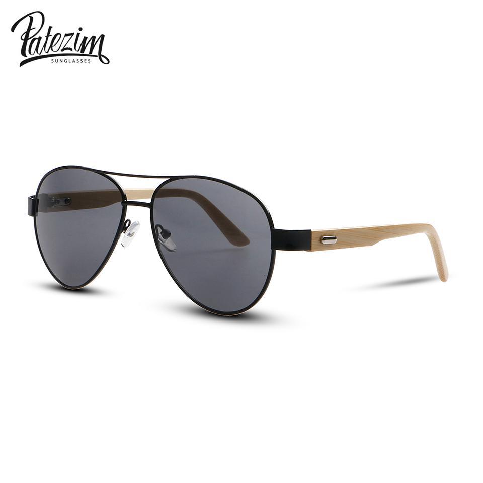 86ff35b319 Patezim Wood Sunglasses Men Women Fashion Design Mirror Sun Glasses Uv400  Gold Driving Original Bamboo Sunglases Police Sunglasses Serengeti  Sunglasses From ...