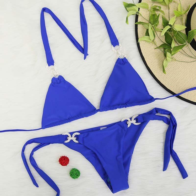 Halter Bikini 2018 Sexy Swimwear Women Swimsuit Cut Out Brazilian Bikini Set Bandage Beach Wear Swimwear Female Bathing Suit