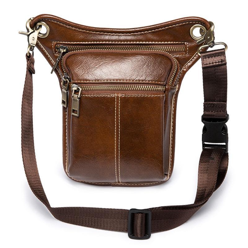 e908a1013bc5 Wholesale Bum Bag Balck Coffee Waist Bags Men s PU Leather Soft ...