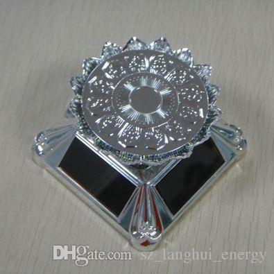 Electronic solar rotating display stand lotus tray without LED light jewellery turntable for watch glasses good showcase for exhibition 006B