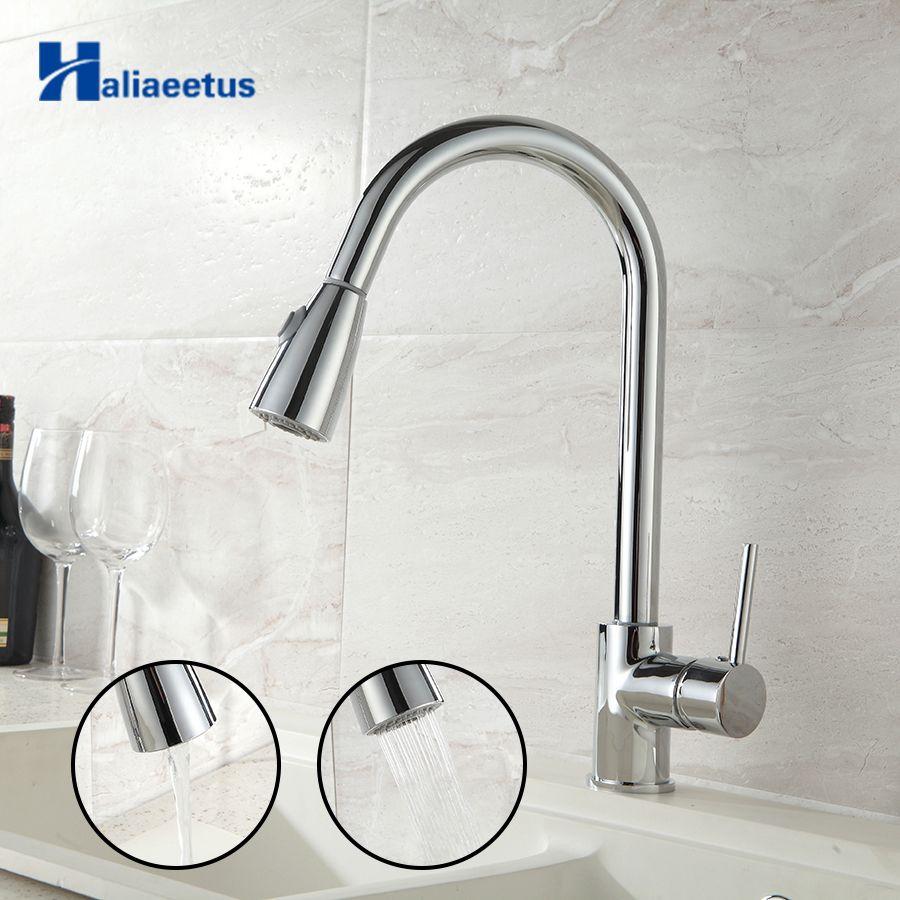Haliaeetus Pull Out Kitchen Sink Faucet Flexible Kitchen Faucet Tap ...