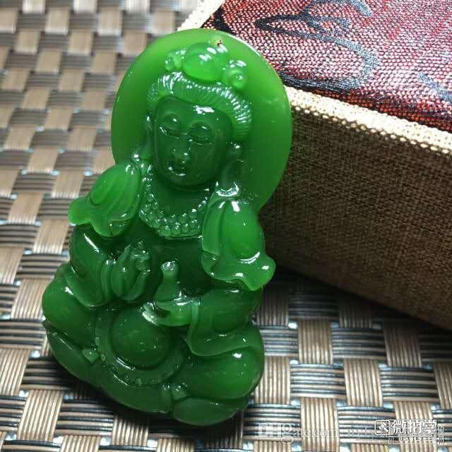 Китай Синьцзяне Хотан нефрита богиня милосердия, мира и подвеска с свободной перевозкой груза A1