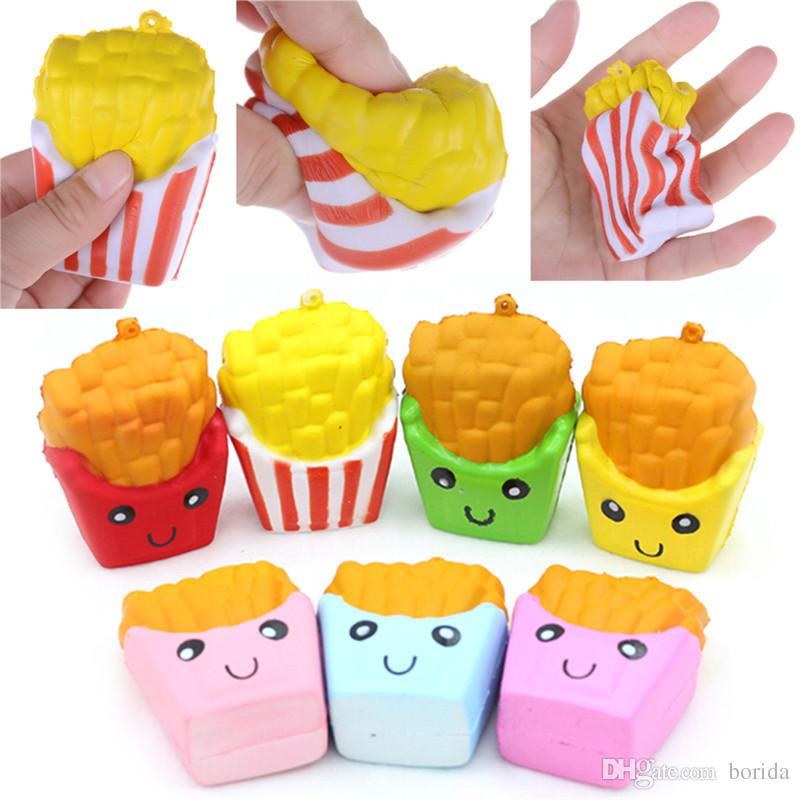 Cute Soft jumbo Slow Rising Squishy Simulation Fries Chips popcorn Toy Gift for Children Adults Relieves Stress Anxiety