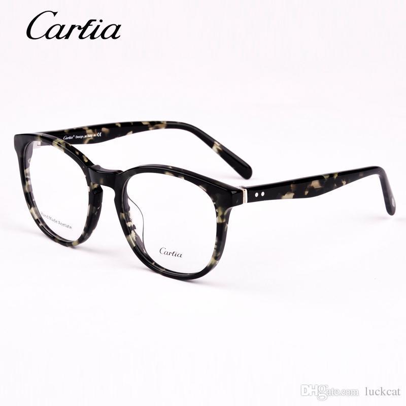 e62ba634396d6 Compre Óculos Vintage Mulheres Óculos De Armação Rodada Óculos De Armação  Óculos De Armação Óptica Carfia 5108 53mm Oculos Femininos Gafas De  Babykidss, ...