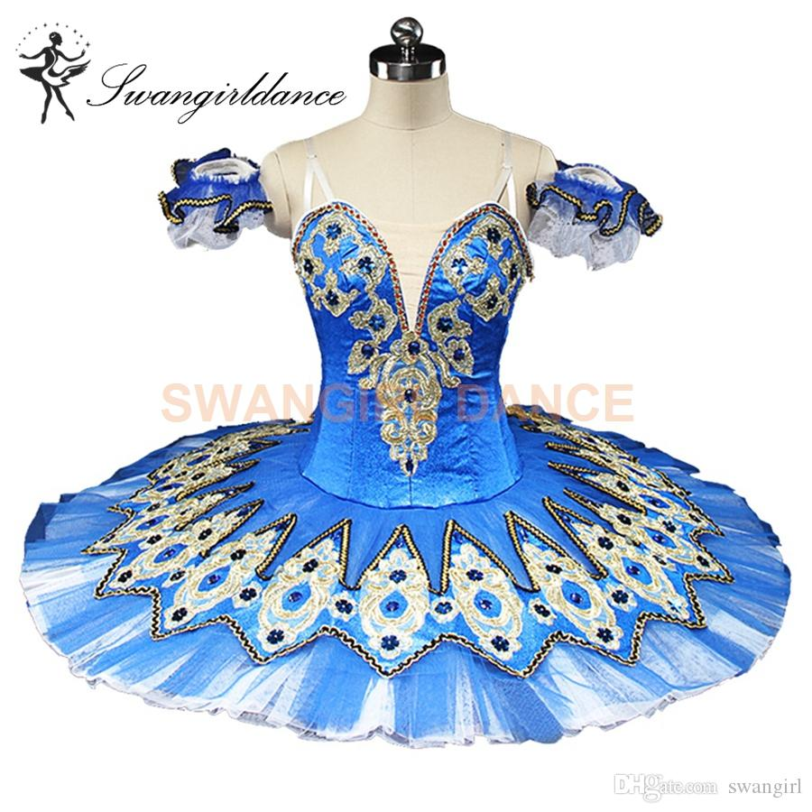 f18732780fe8 2019 Women Blue Professional Ballet Tutu Classical Performance Concert  Competition Ballerina Ballet Stage Costume Pancake Tutus Blue BT9132C From  Swangirl, ...