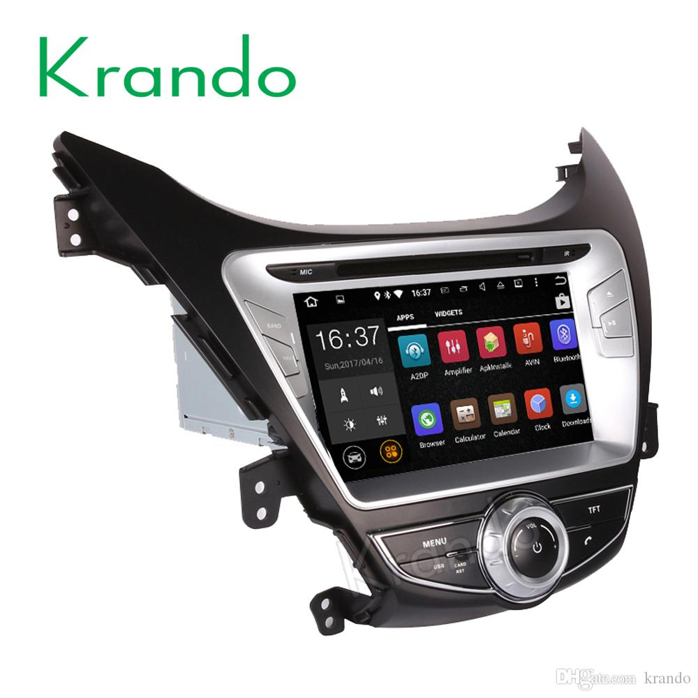 Krando 8 Android 8 0 car dvd radio gps dvd navigation multimedia system for  Hyundai Elantra Avante 2011-2013 palyer WIFI 3G DAB