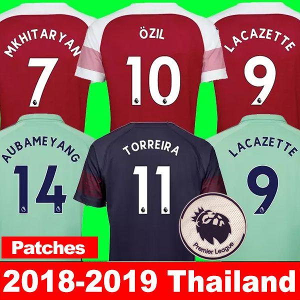 Camiseta De Fútbol Arsenal 2018 2019 Aubameyang Mkhitaryan Ozil Jersey 18 19  Lacazette Xhaka Torreira Kit De Fútbol Camiseta De Fútbol Top Thailand Aaa  Por ... 0c6938dfb7cf8