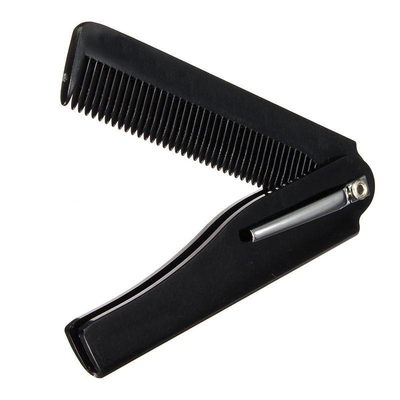 Hot Foldable comb Folding Pocket Clip Hair Moustache Beard Comb Fashion  Mens Womens Handmade
