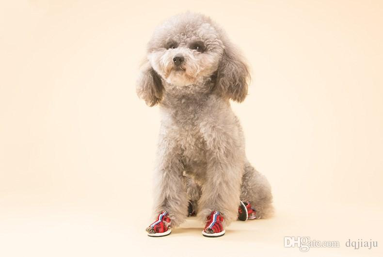 Pet Shoes Puppy Shoes New Zebra Gold Dotted Dog Sandals Pet shoes Teddy Small Dog Soft Bottom Breathable Spring And Summer Models