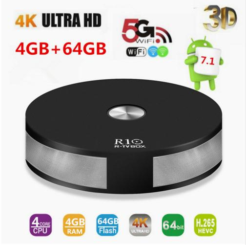 tv box android 8.1 4gb 64 gb 4k  R10 4GB RAM 64GB ROM Smart Android 8.1 TV Box RK3328 Quad Core 2.4 ...