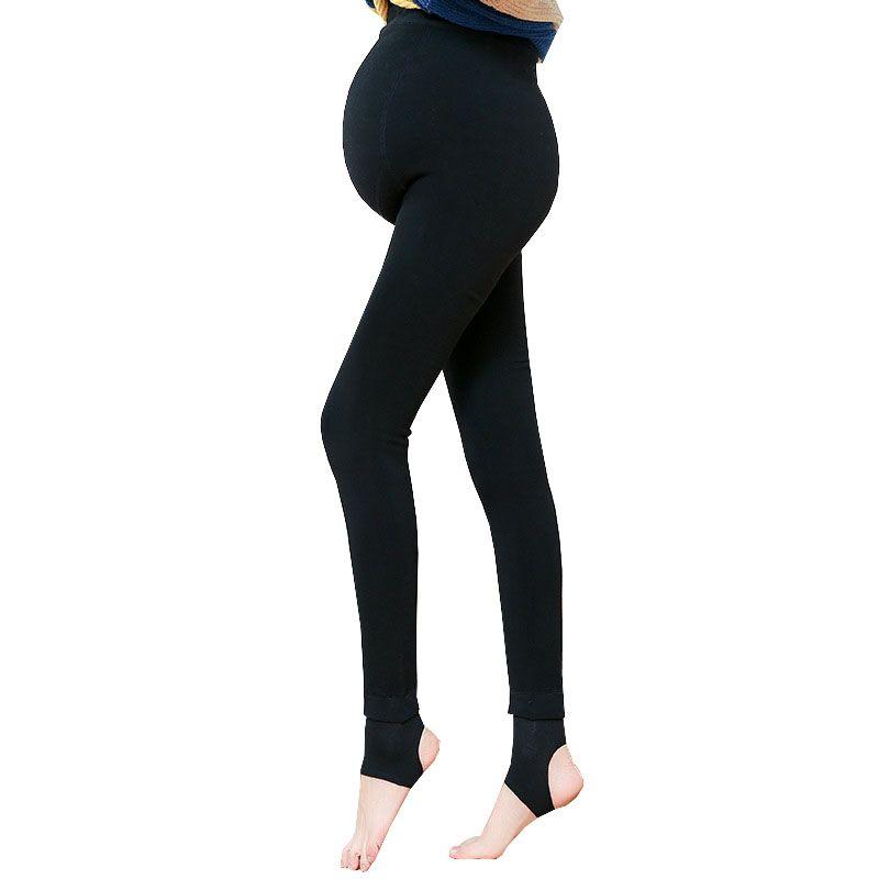 Acheter Pantalons De Maternité Taille Haute Hiver Pantalons Pour Les Femmes  Enceintes Vêtements Stretch Épaissir Pantalons De Velours Chaud Vêtements  De ... a25de0c4883