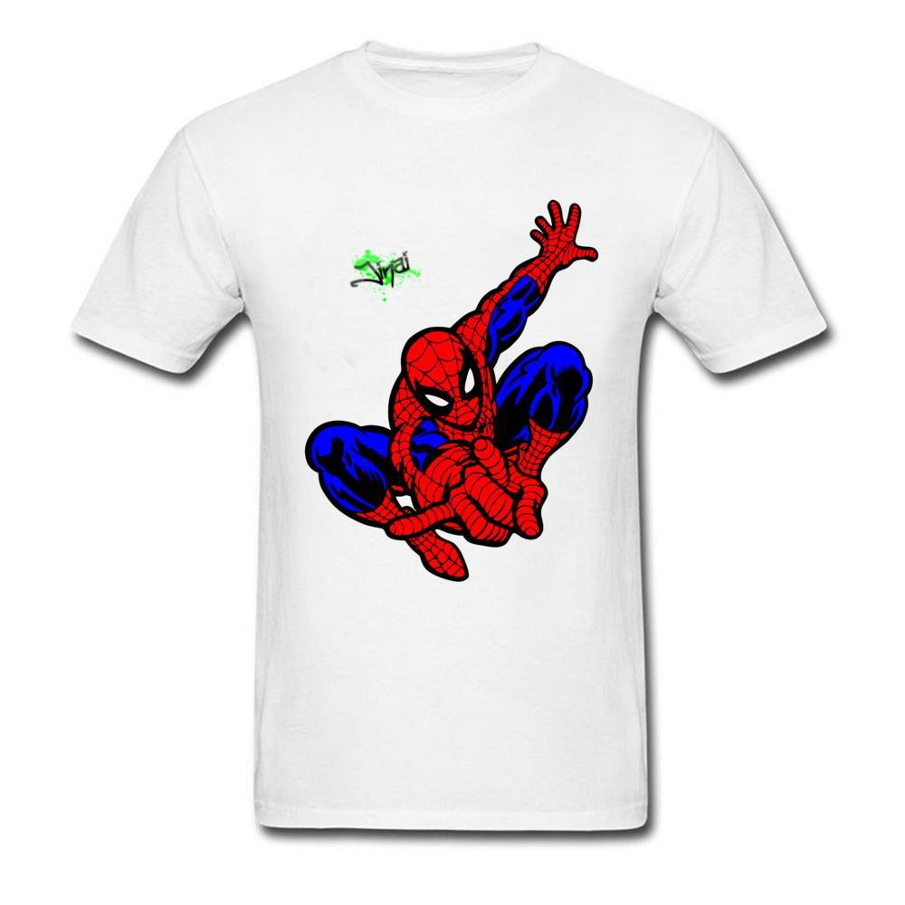 541a09cf Red Super Hero Spider Man Cool T Shirt Men's Classic Video Film Fan Tshirts  Never Fade Cotton Tops Tees Spiderman T-Shirt