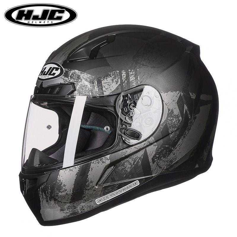 0326d0ea HJC CL 17 Full Face Motorcycle Helmet Man Woman Motorbike Racing Helmets  ABS Reinforced Plastic Shell HJC Classic Moto Helmets Motorcycle Road  Helmets ...