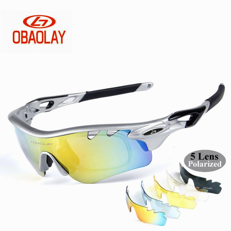 1315ebf3b7ef7 Compre OBAOLAY Marca Polarizada Ciclismo Eyewear Unisex Homens E Mulheres  Bicicleta Óculos De Sol 5 Lens Óculos Para Bicicleta Esporte Pesca De  Teawulong, ...