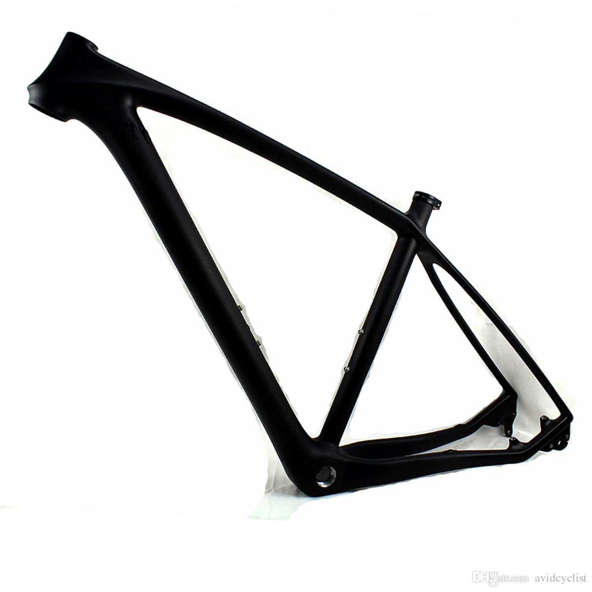 29er carbon fiber MTB bike frame 29 mountain bicycle frames thru axle 142*12mm and QR 135*9mm compatible BB BSA BB68 3K matt