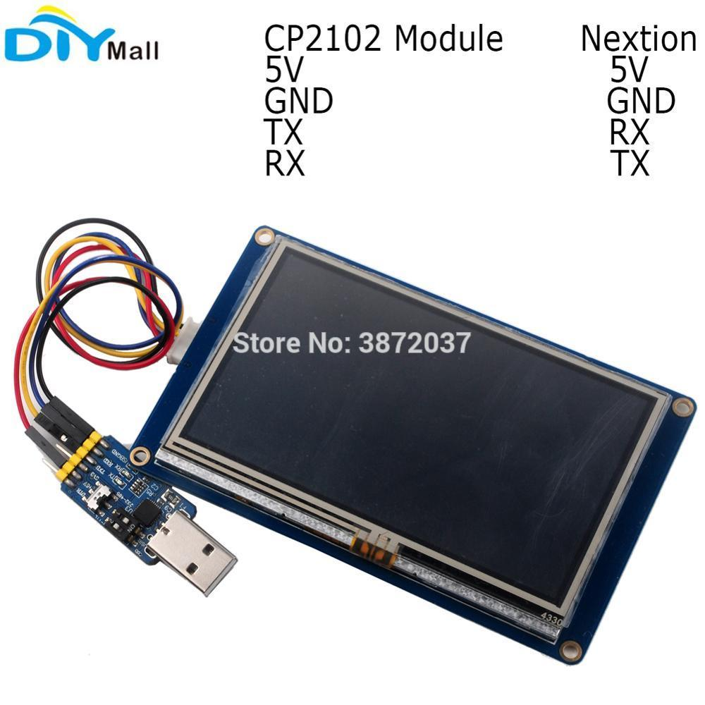 2 4 2 8 3 2 3 5 4 3 5 0 7 0 Nextion Basic Resistive Touch Screen HMI  Display CP2102 Serial Module for Arduino RPi