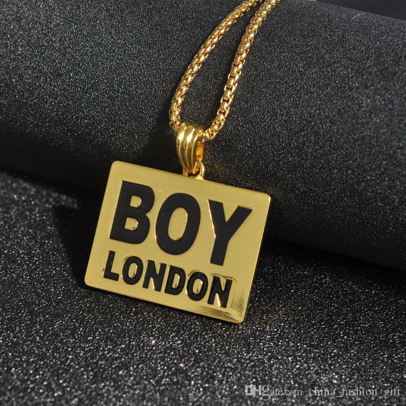 Colares de Hip-Hop Do Punk Para Hip-Hop Homens Legal Pingente Colares de Prata de Ouro Mental Colares Para Acessórios de Moda Masculina