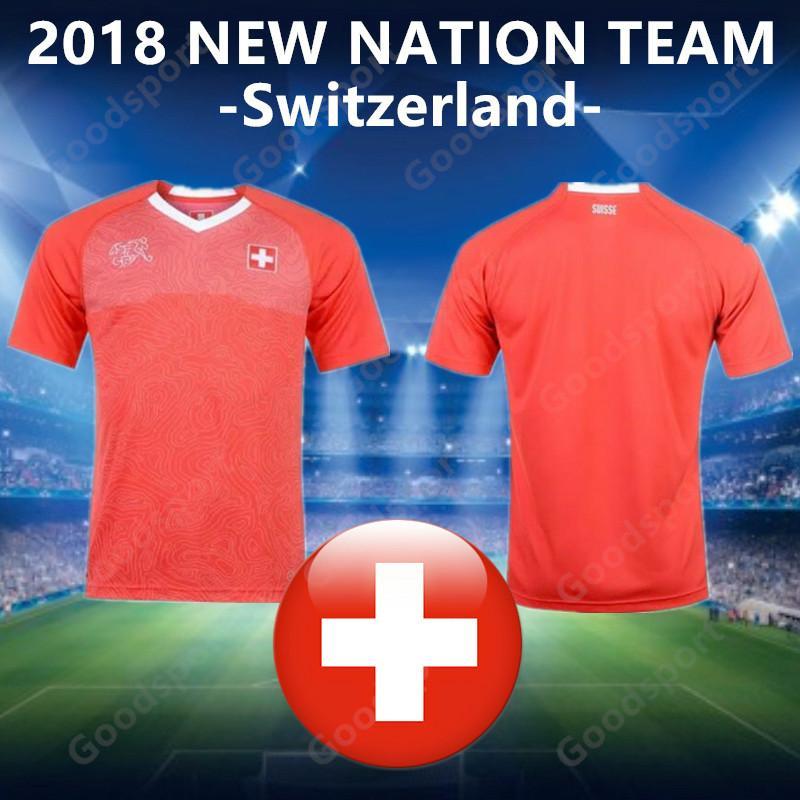 info for 34bbd 031e7 2018 Switzerland Soccer Jersey 17 Xherdan Shaqiri Eren Derdiyok 3 Stephan  Lichtsteiner Swiss calcio fútbol football hot sale shirts sport 19
