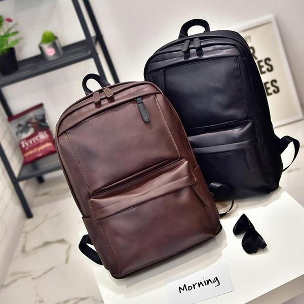 8d13c8dbdfb0 Vintage Men Women Leather Backpack Laptop Satchel Travel School Bag Rucksack  Book Bags Herschel Backpacks From Rymkkkk