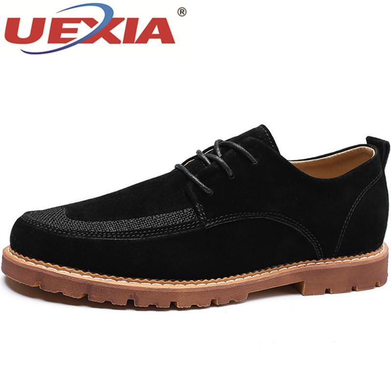 23b2fcc0d Compre UEXIA Zapatos De Vestir Para Hombre Negro Marrón Punta Estrecha  Zapatos Formales Para Hombre Primavera Verano Hombres Suela De Goma Suela  PU Traje ...