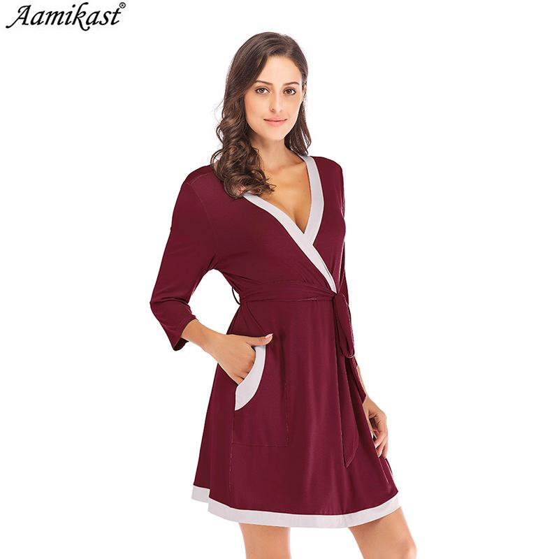 025d1062c29b 2019 Aamikast Women Bathrobe Modal Womens Pajamas Sets With Padded Sexy  Elegant Female Homewear Night Robe Women In Women S Robes From Qingxin13