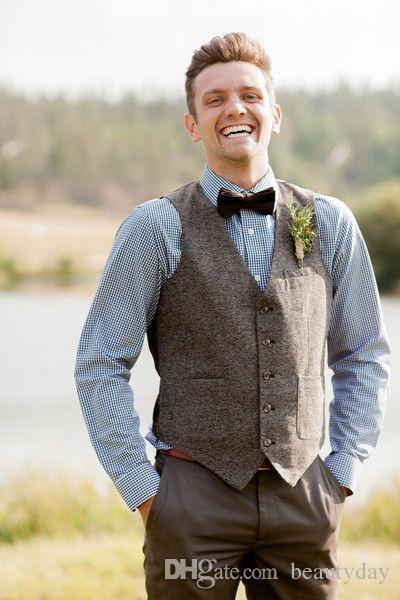2019 Ucuz Damat Yelekler Çiftlik Düğün Yün İngiltere Stil Yelekler Custom Made Slim Fit Erkek Suit Yelek Balo Düğün Yelek Artı Boyutu bestman