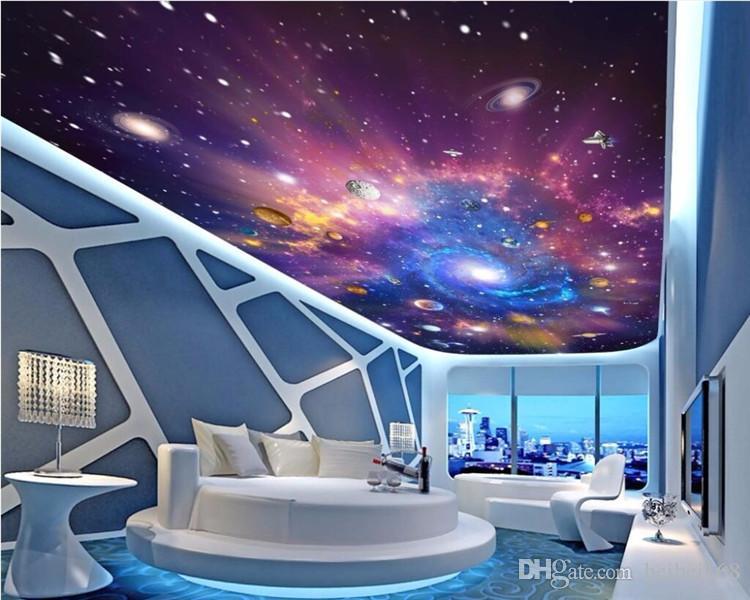 Acheter Personnalise 3d Murales De Plafond Papier Peint Decor A La