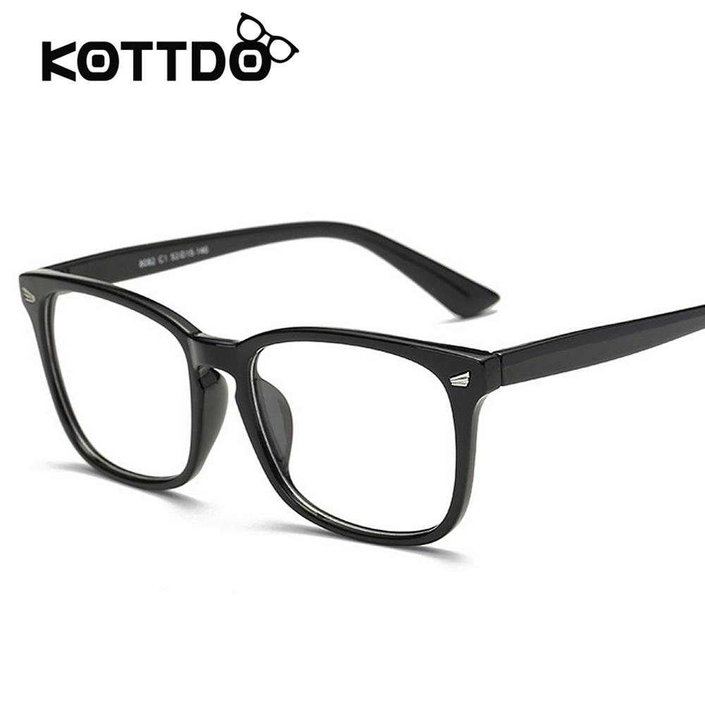5c77f20678 2019 Square Eyewear Clear Lens Unisex Retro Glasses Big Frame Vintage  Eyeglasses Frame For Women Men s Goggles Oculos De Grau From Gwyseller