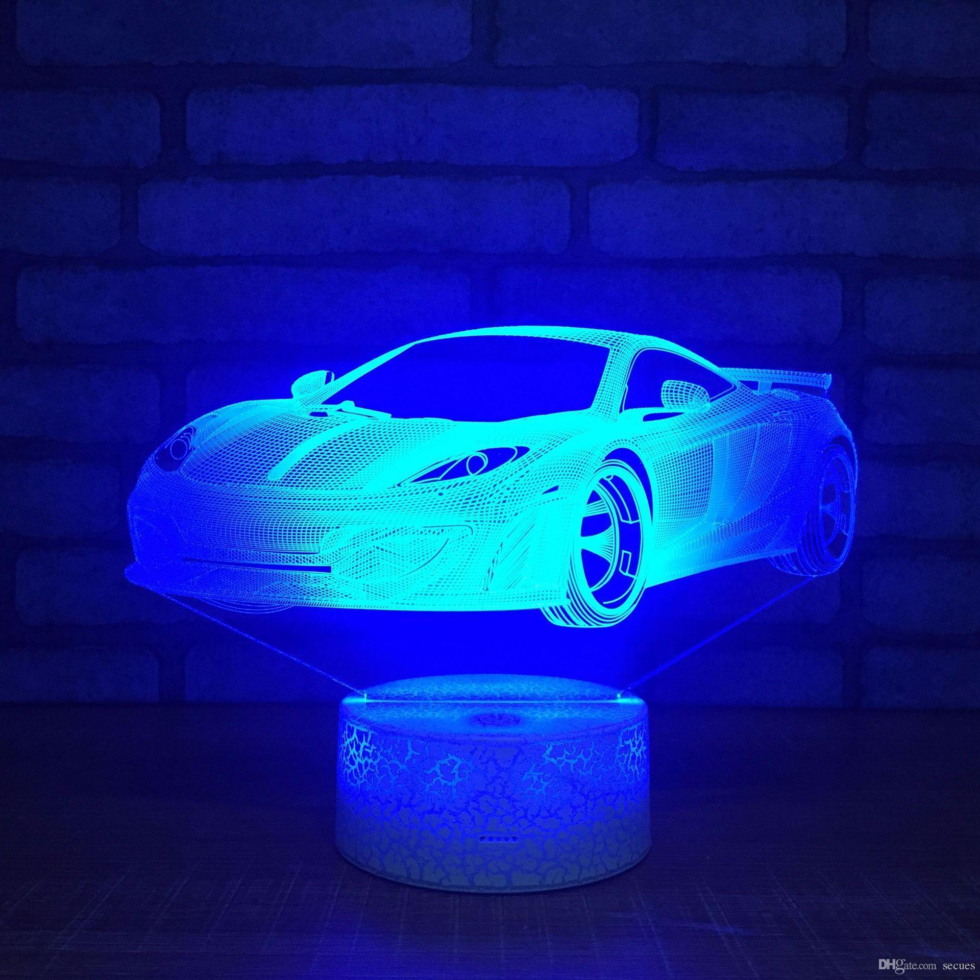 Coupe Gros Livraison Led Alimenté 5v Par 5ème Light Base Gratuite Lampe Optial Fissure Rgb Dc 7 De Batterie Usb La 3d Voiture OTPkiuZX