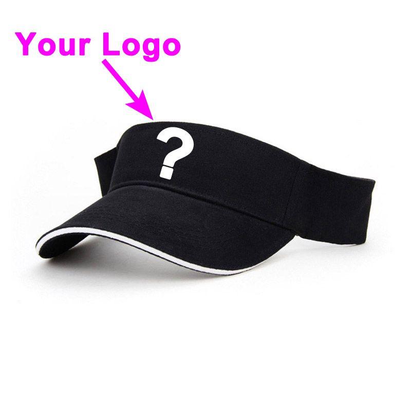 0914a5cd1bb Sun visor cap 100% cotton material boys men custom color adjustable closer  small MOQ outdoor sport tennis hat custom baseball hat