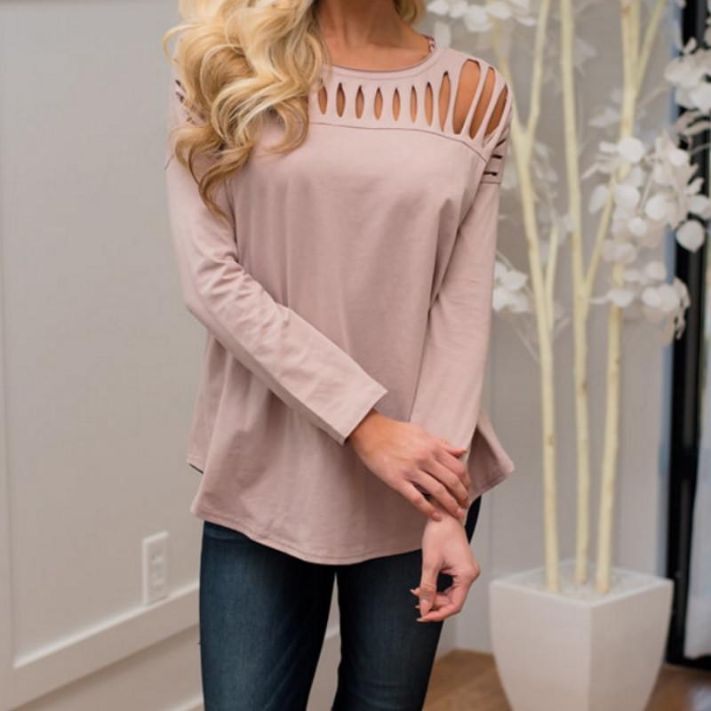 47b735bad1a5dd Fashion Elegant Women Sexy Lace Shirt Casual Tops Long Sleeve Female Stand  Hollow Out Blouses Online with $31.52/Piece on Lixlon02's Store | DHgate.com