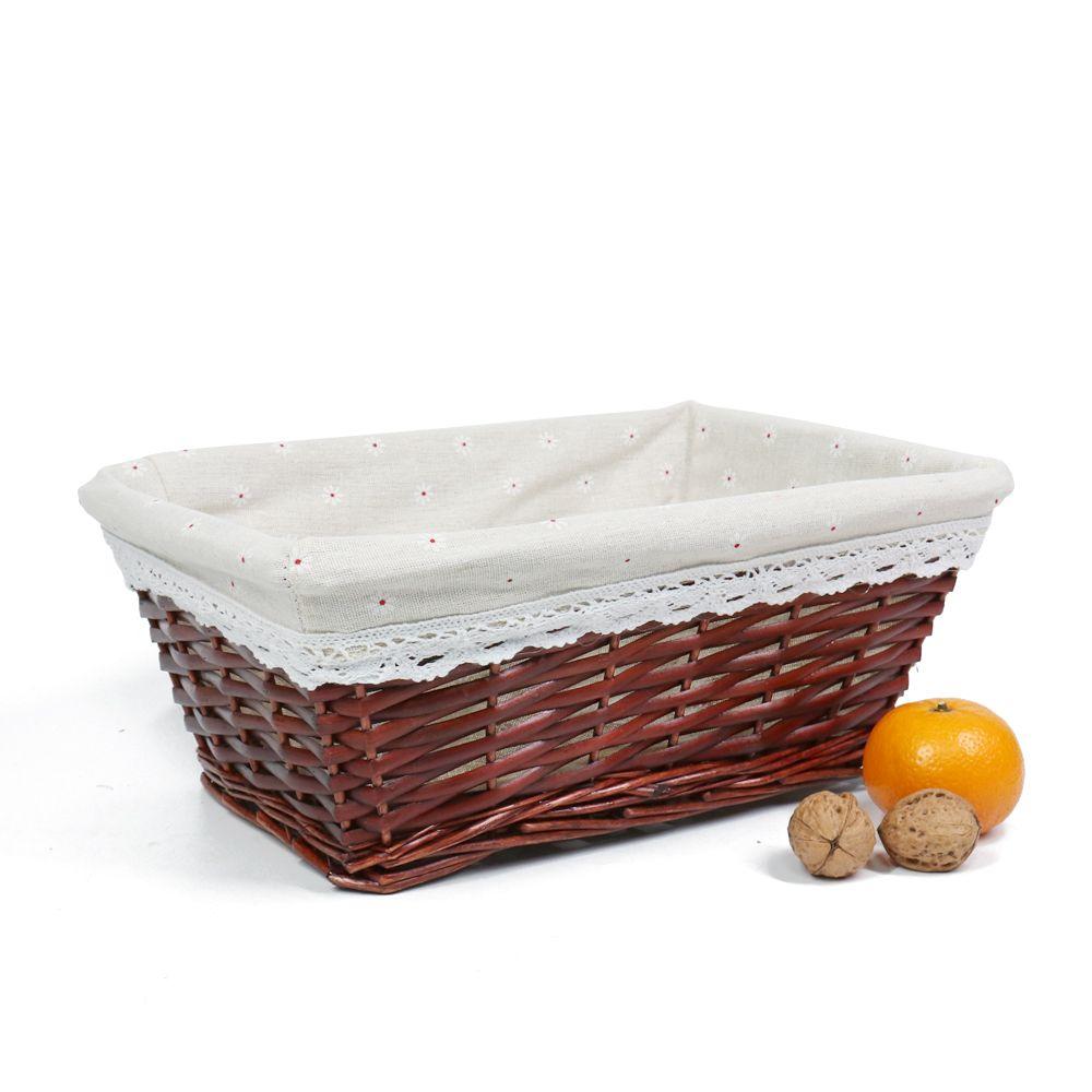 2018 Meiem Handmade Woven Wicker Storage Basket With LinerStorage