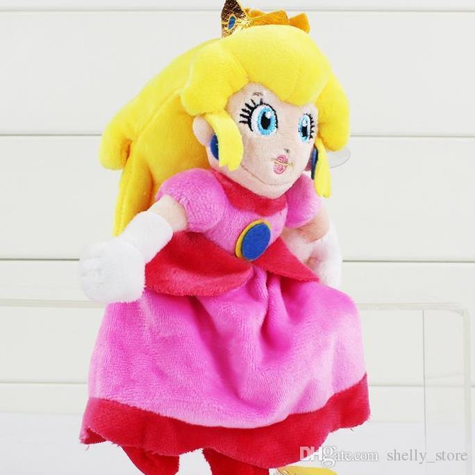 Hot Sale Super Mario Plush Princess Peach Plush Soft Stuffed Doll Toys 20cm for Kids Gift