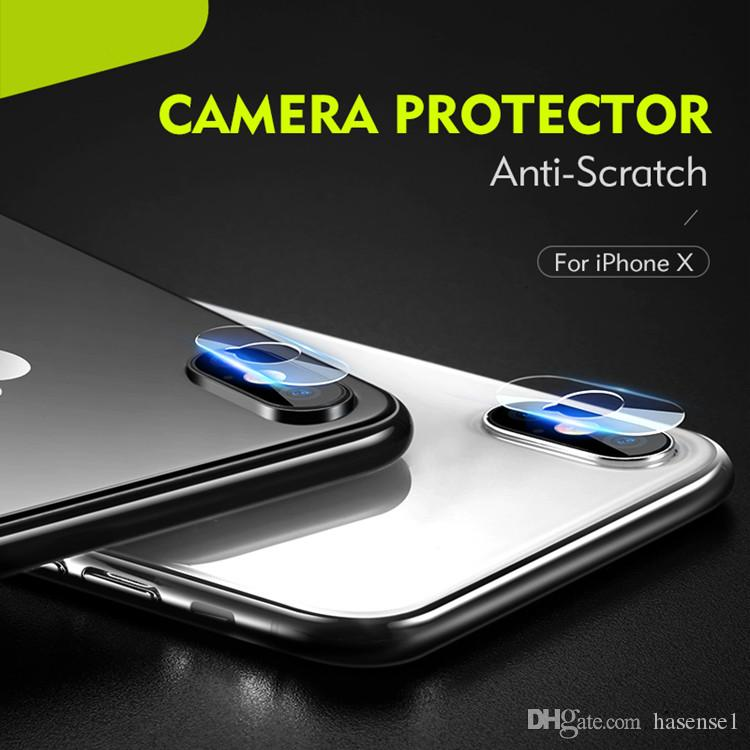 2.5D Back Camera Lens for iPhone XS Max XR Flexible Soft Tempered Glasses Anti Scratch Soft Fiber Screen Protectors for iPhone XR