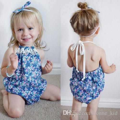 a82032c6e698 2019 Summer Infant Baby Girls Floral Romper Bodysuit Jumpsuit ...