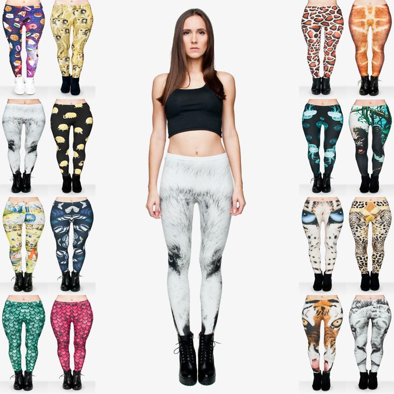 1c6147beae Women Leggings 16 Styles Mix Baby Giraffe Jellyfish Space Sweets ...