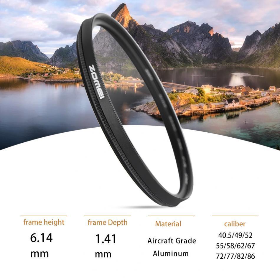 Freeshipping Utra-light CPL Circular Polarizer Polarizing Lens Filter for Camera 40.5mm,49mm,52mm,58mm,67mm,72mm,77mm, 82mm,86mm,55mm