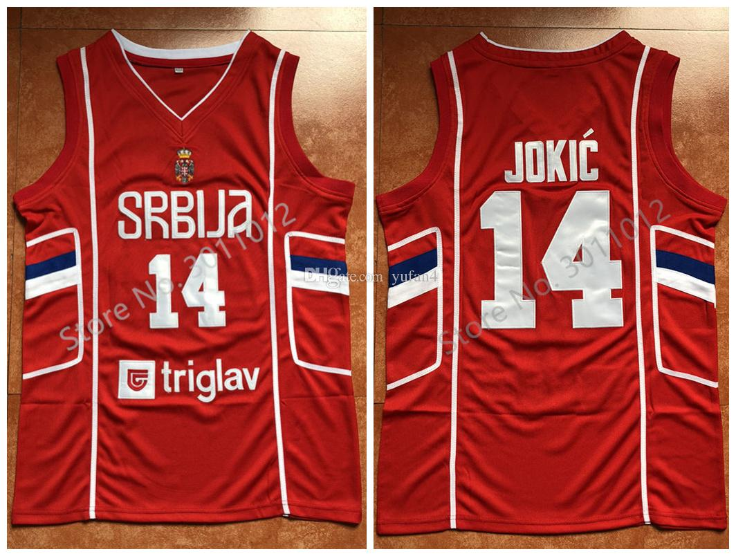 82ed541acb8c 2019  14 Nikola Jokic Team Serbia Retro Classic Basketball Jersey Mens  Stitched Custom Number And Name Jerseys From Yufan4