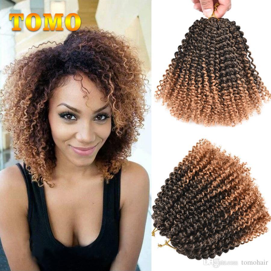 2019 Tomo Afro Kinky Twist Hair Ombre Marlybob Crochet Braids