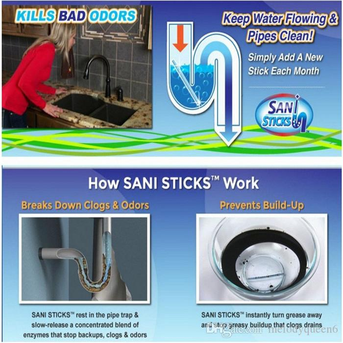 /bag Sani Cleaning Sticks Keep Your Drains Pipes Clear And Odor Home Cleaning Sewer Drain Cleaner Drain Clog Remover
