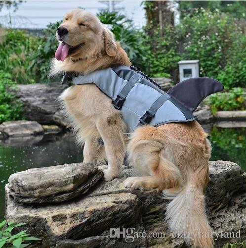 2019 Pet Dog Shark Mermaid Life Jacket Safety Clothes For Dog Life
