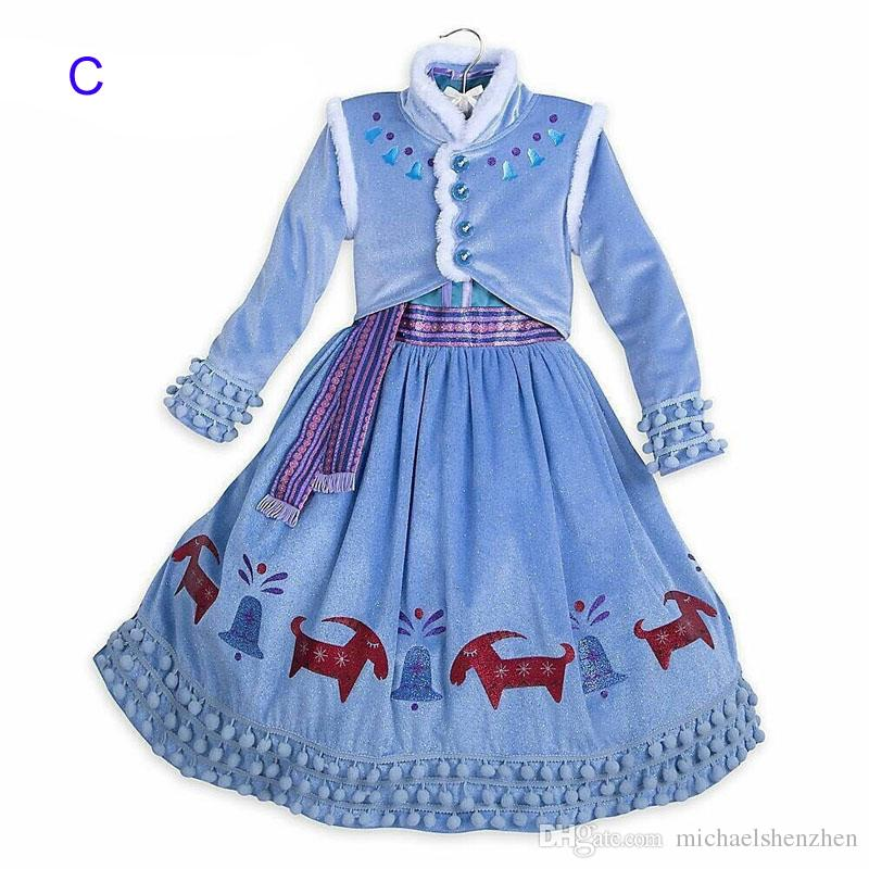 3 Style Girl princess snowflake evening dress New Children Christmas cosplay lace Birthday party cloak dresses Open to booking B001